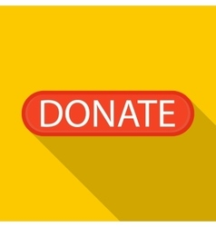 Donate icon flat style vector
