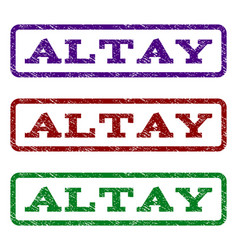 Altay watermark stamp vector