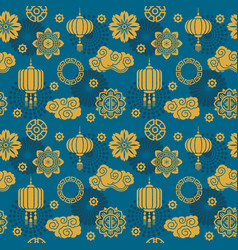 asian decoration chinese and japanese vector image