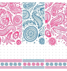 Beautiful vintage floral ornate banners vector image vector image