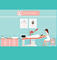 Beauty facial massage treatment of face skin vector