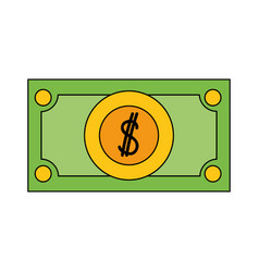 Bill cash money and economy finance vector