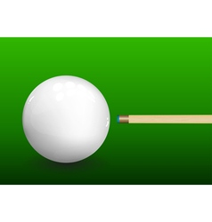Billiard Cue Aiming on Ball vector image vector image