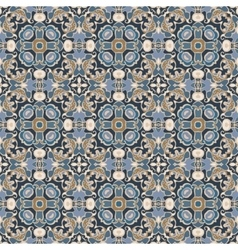 Blue and brown pattern vector image vector image