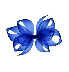 Blue transparent bow isolated on white background vector