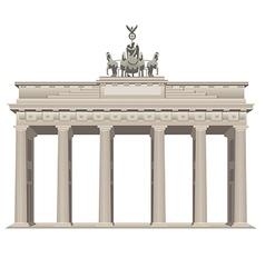 brandenburg gate vector image vector image