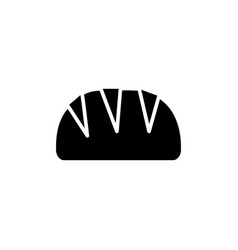 bread loaf icon black sign vector image