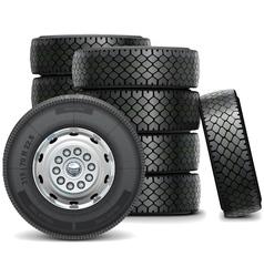 Bus Wheels vector image
