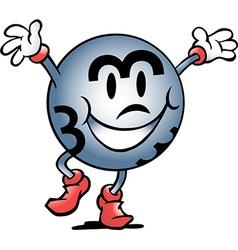 Cartoon of a Happy Bingo Ball Winner vector image