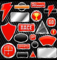 chrome graphic elements vector image vector image