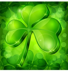clover green background vector image vector image