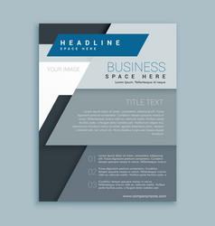 corporate business brochure design template vector image vector image