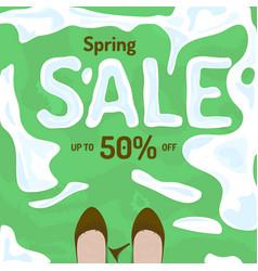 Flat spring sale banner poster flyer vector