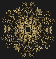 Golden mandala vector