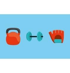 Gym weights equipment vector
