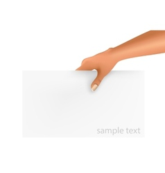 Hand holding business object vector image