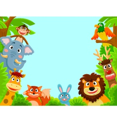 happy animals vector image