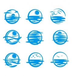 icons of water vector image vector image