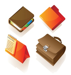 Isometric icon of work items vector image vector image