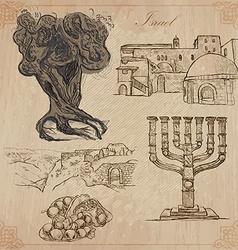 israel - FINAL 11 SHSt 001 vector image vector image