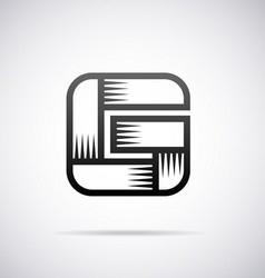 Logo for letter G vector image