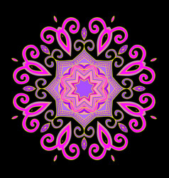 Mandala abstract purple vector