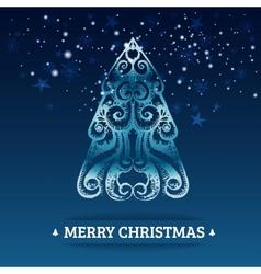 Ornamental stylized christmas background vector