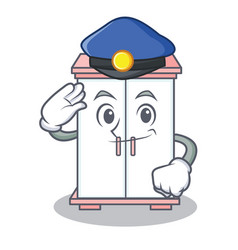 Police cabinet character cartoon style vector