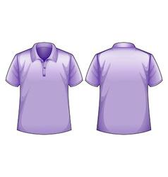 Purple shirts vector image