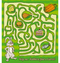Rabbit maze game vector