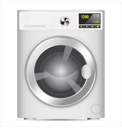 Realistic washing machine vector image vector image