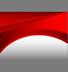 red and gray abstract waves background vector image