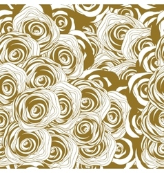 roses monochrome seamless pattern vector image vector image