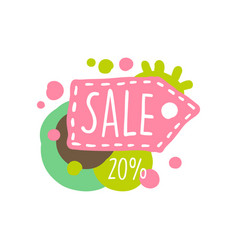 Sale 20 percent off colorful logo special offer vector
