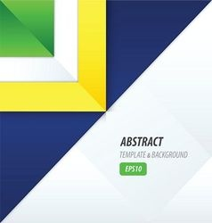 triangle template yellow blue green vector image vector image