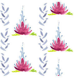 Violet flower seamless decoration vector