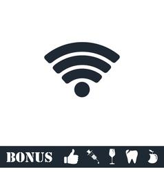 Wifi icon flat vector