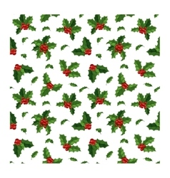 Christmas berry decoration seamless pattern vector