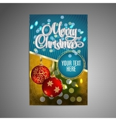 Christmas poster background with blurred vector