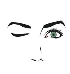 Face of young woman facial expression vector