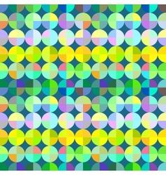 Abstract colorful mosaic circles seamless pattern vector image