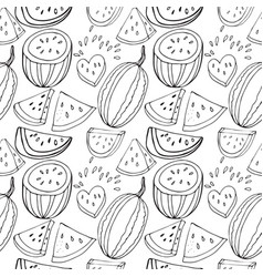 Seamless pattern from the juicy lobes of vector