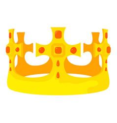 Crown prince icon cartoon style vector