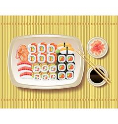 sushi bamboo vector image