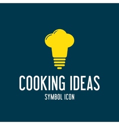 Cooking Ideas Concept Symbol Icon or Logo Template vector image