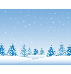 Winter wood vector