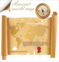 ancient world map vector image
