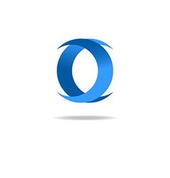 Letter O logo blue graphic design geometric shape vector image