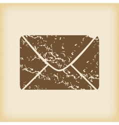 Grungy letter icon vector