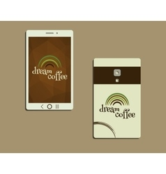 Corporate identity template design for cafe vector